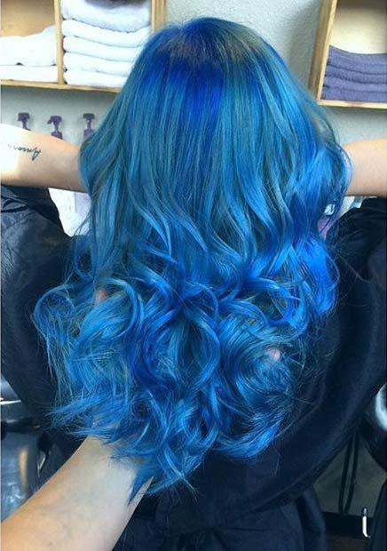 couleur de cheveux bleu ciel coiffures la mode de cette saison. Black Bedroom Furniture Sets. Home Design Ideas