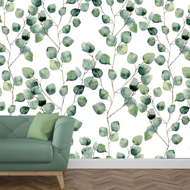 d coration nature papier peint eucalyptus d coration. Black Bedroom Furniture Sets. Home Design Ideas
