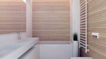 id e d coration salle de bain meuble vasque bois et carreaux de ciment en cr dence blanc et. Black Bedroom Furniture Sets. Home Design Ideas