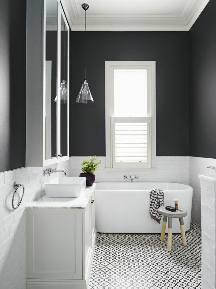 Petite Salle De Bain Noir Et Blanc - Moble.top