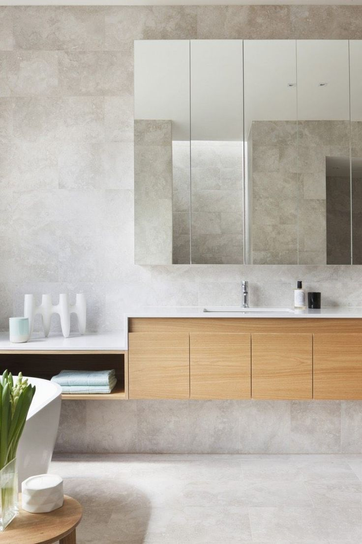 idée décoration salle de bain - carrelage salle de bain effet ... - Salle De Bain Effet Beton