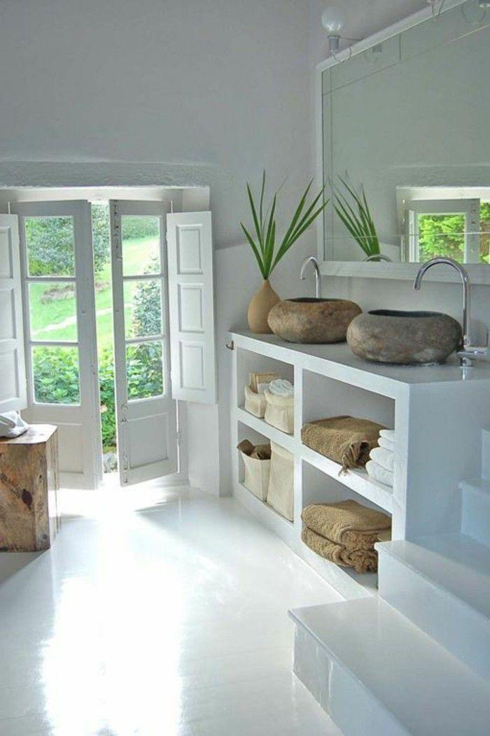 Description. meuble salle de bain bambou