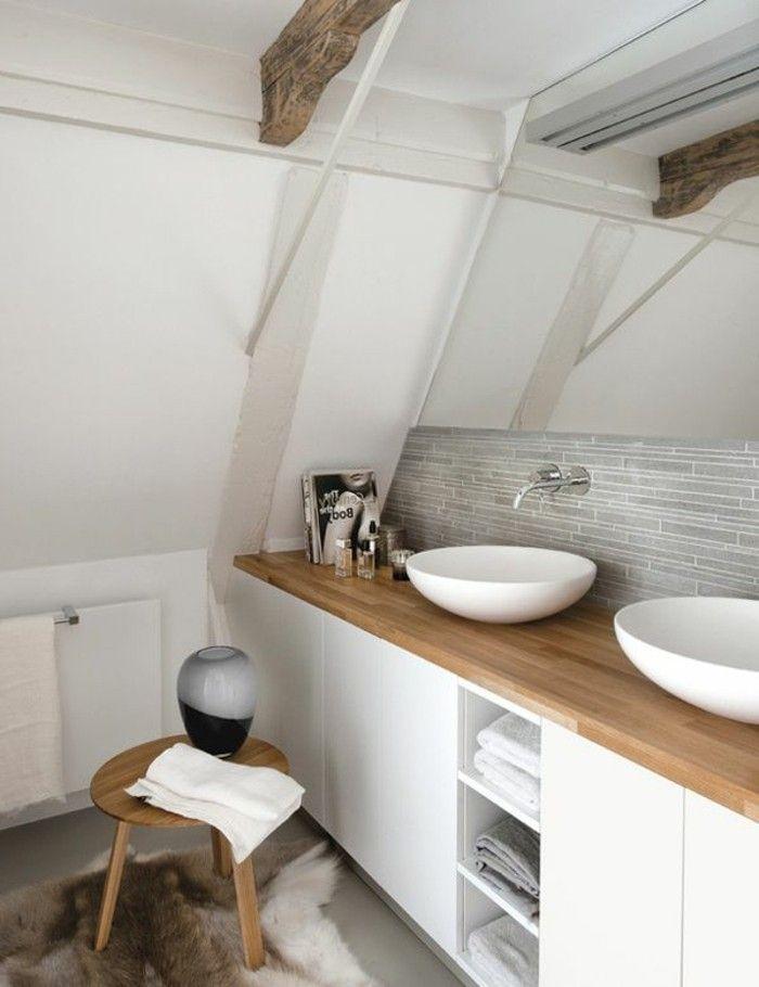 Salle de bain en sous pente voici le plan que juai fait for Plan salle de bain sous pente