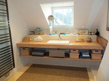 Idée décoration Salle de bain - Pierre naturelle sol et mur ivoire ...