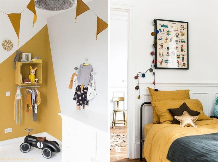relooking et d coration 2017 2018 jaune moutarde d co chambre d 39 enfant. Black Bedroom Furniture Sets. Home Design Ideas