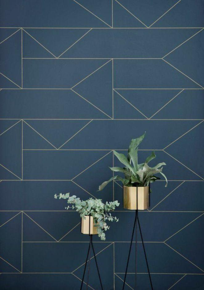 d co salon papier peint leroy merlin geometrique bleu fonc leading. Black Bedroom Furniture Sets. Home Design Ideas