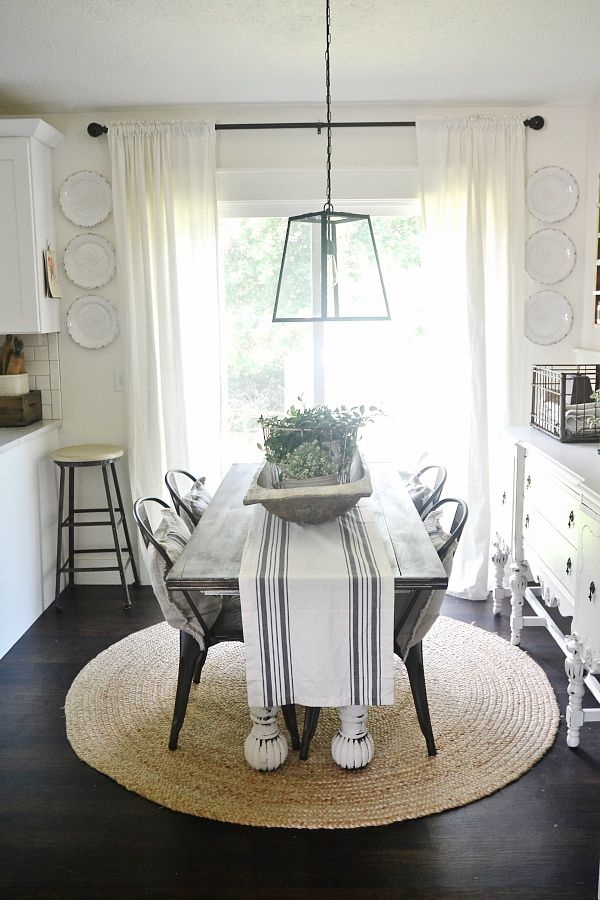 Salle A Manger Dining Room Plate Wall Farmhouse