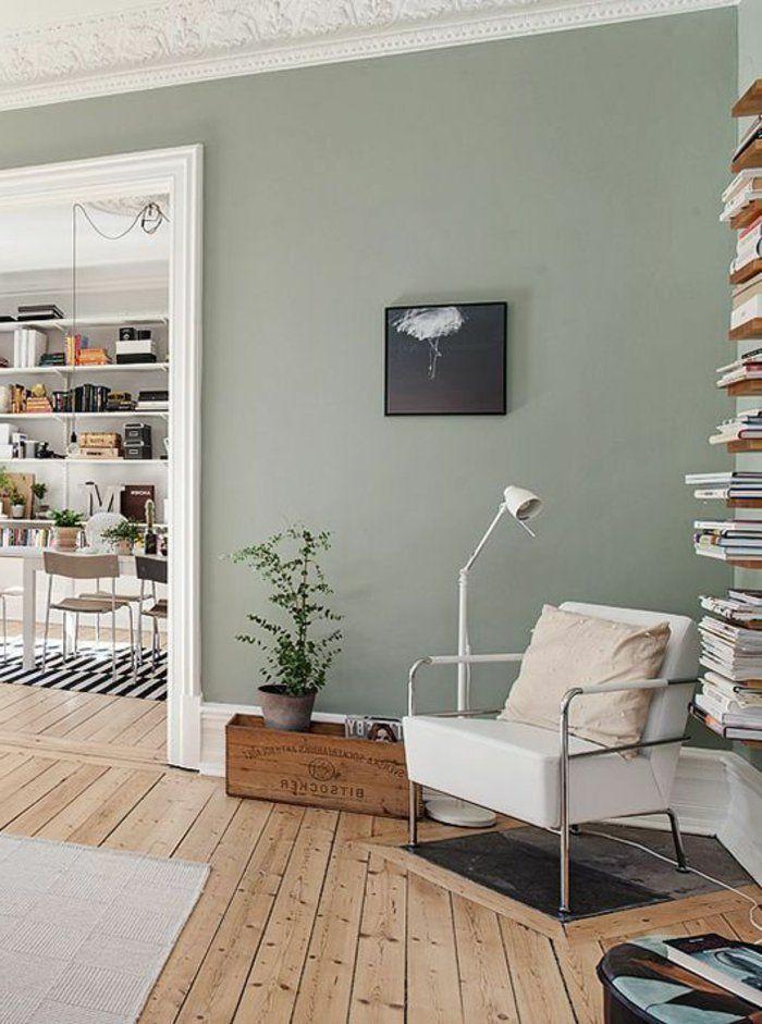 groen ral d co salon peinture acrylique mur salon. Black Bedroom Furniture Sets. Home Design Ideas