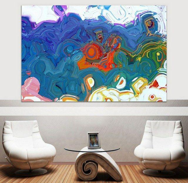description tableau art contemporain comme accent dans