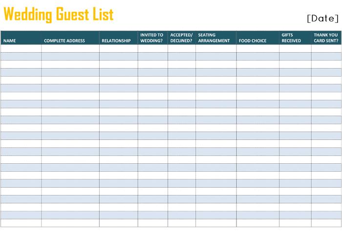 Free Printable List Templates