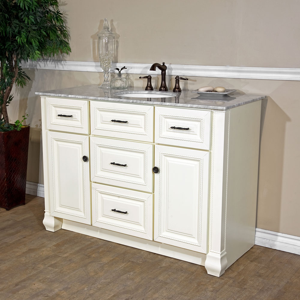 Ferguson Bathroom Vanities Bellaterra Home 605022 Cream White Finish Bathroom Vanity Genuine