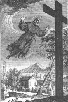San Giuseppe Di Copertino 18Th Century Engraving