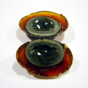 Century Egg Sliced Open