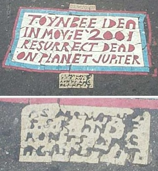 Toynbee Tile At Franklin Square 2002
