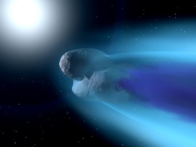 Space Fiction Close Comet 1 - 1024X768