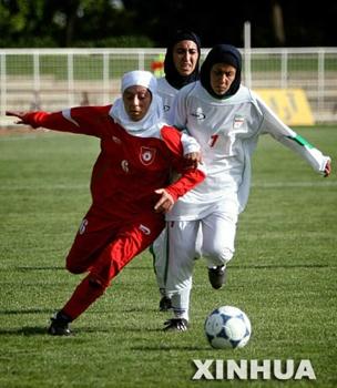 Iranian-Wome-Playing-Soccer