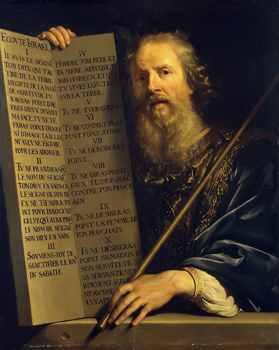 Moses With Ten Commandments Champaigne 1648
