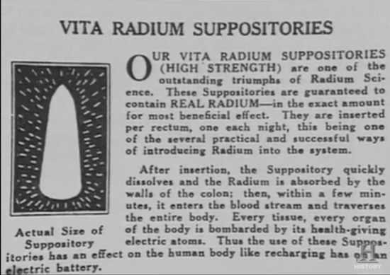 Radium Suppositories