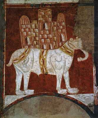 Elephant And Castle (Fresco In San Baudelio, Spain)