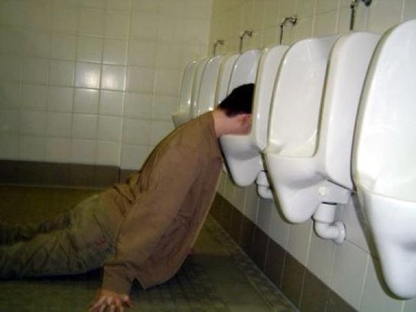 Sleepwalking into toilet