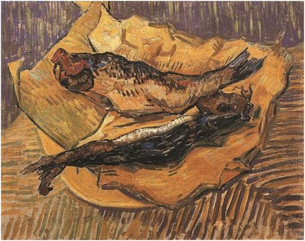 Van Gogh Bloaters-On-A-Piece-Of-Yellow-Paper-1889