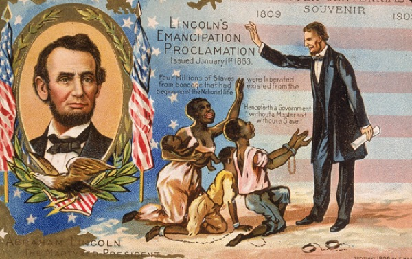 Postage stamp with Abraham Lincoln