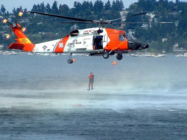 Rescue Chopper in Action