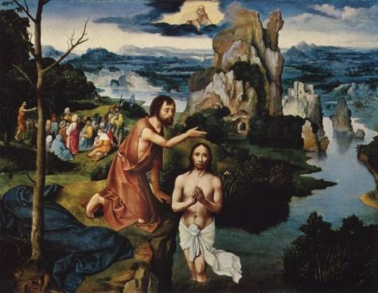 Joachim-Patinir Botezul-Of-Jesus