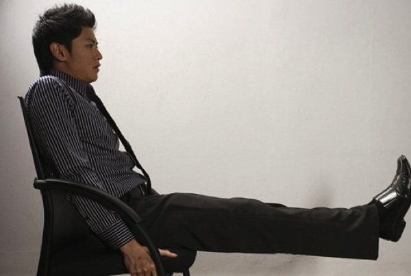 Seated Leg Lift In Office Chair