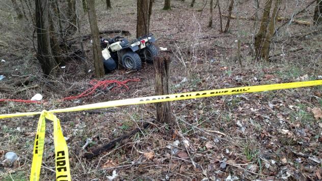 Crashed ATV