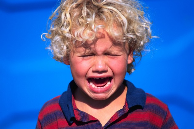 Blond Boy Crying