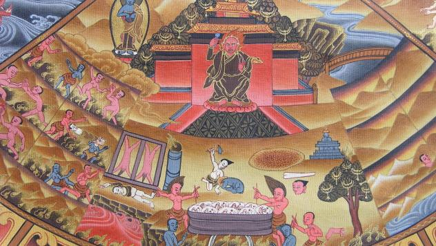 Tibetan Buddhism Wheel Of Life 06 06-1 Hell Beings
