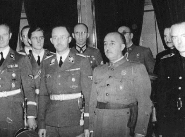 Spanien, Heinrich Himmler bei Franco