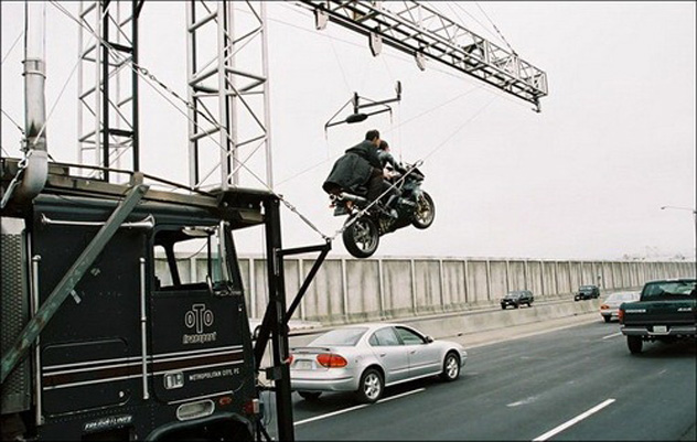 Shots from the set of The Matrix