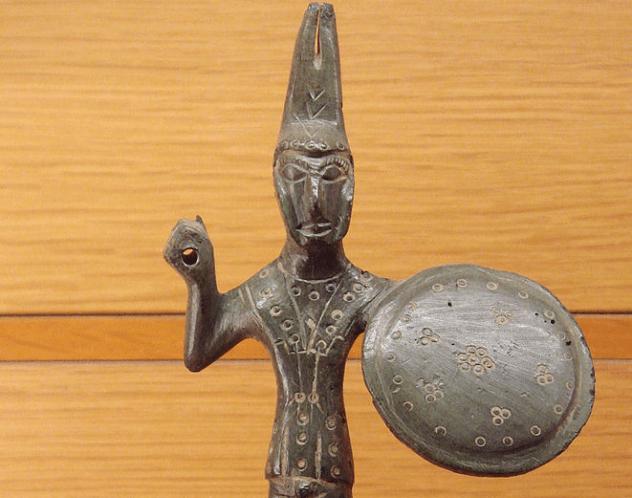 Etruscan Warrior Statue
