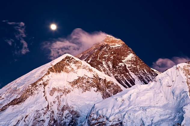 Mount Everest, Lhotse and Nuptse from Kala Patthar