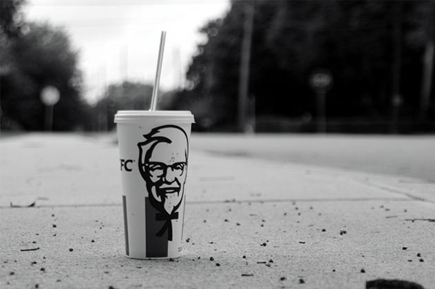 KFC cup alone on street