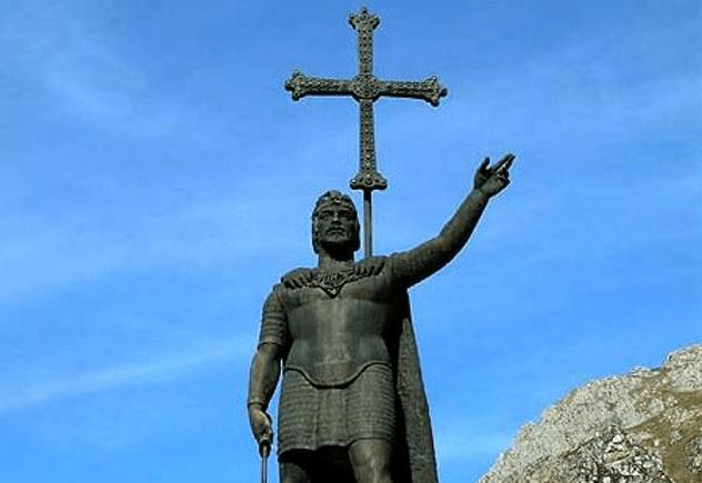 Pelayo Statue