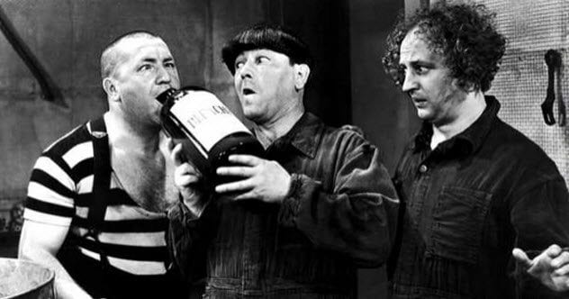 Three Stooges 4a-curly-booze