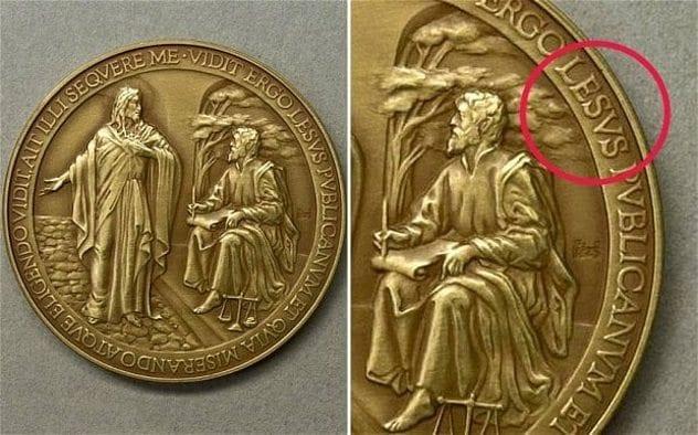 Jesus Medal Typo
