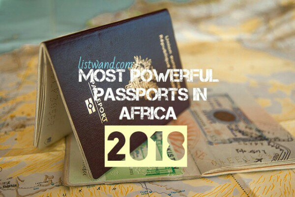Top 10 most powerful passports in Africa, 2019