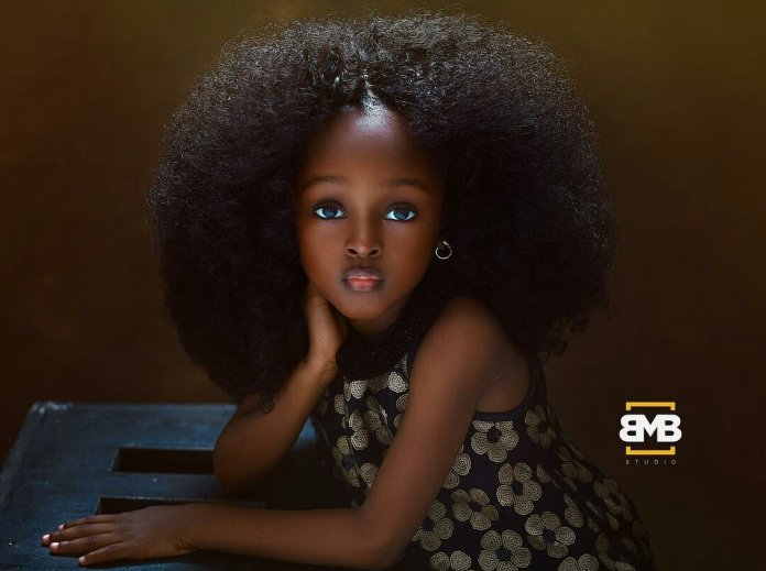 The 'Most Beautiful Girl' In The World has Been found in Nigeria And She is 5 Years Old