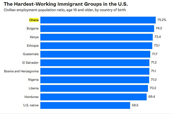 Nigerians  Ranked Among the Most Hardworking Immigrants in the US