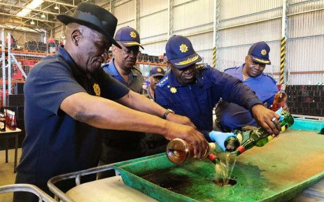 South African Police Service Destroy 10,000 Litres Of Confiscated Alcohol