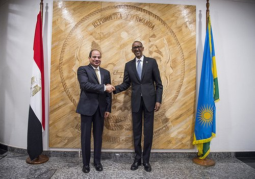 Kagame Steps Down as Chairman of Africa Union, Egypt's Sisi Takes Over