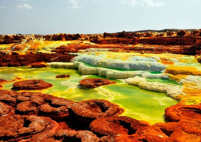 Dallol Pools in Ethiopia is the Only Place on Earth Where No Life Can Exist.
