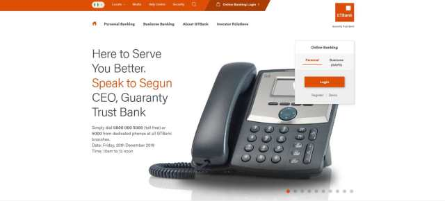 GTbank is the most Visited banking Website in Nigeria