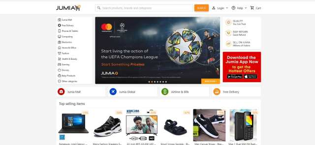 Jumia is the second most Visited Website in Nigeria