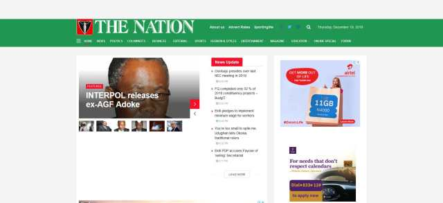 thenationonline is one most Visited news website in Nigeria
