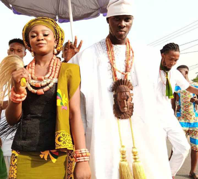 King and queen in Golibe Festival Onitsha